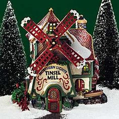 "Department 56: Products - ""Northern Lights Tinsel Mill"" - View Lighted Buildings"