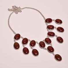 Bueteous Marconi Obsidian .925 Silver Handmade Designer Necklace Jewelry SJB99 #Handmade