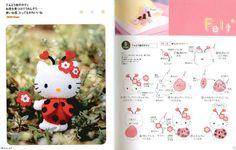 Moldes Para Artesanato em Tecido: Hello Kitty Joaninha com Molde