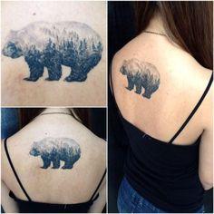 18 magníficos tatuajes de doble exposición que te dejarán alucinado. ¡Wow!