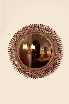 """Miroir """"Boudoir"""", vers 1967.  Mirror """"Boudoir"""" circa 1967."""