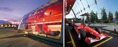 Ferrari Factory Store, Serravalle.  Progettato da Iosa Ghini Associati.