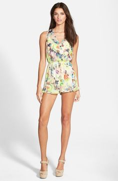 ASTR Sleeveless Romper available at #Nordstrom (different pattern)