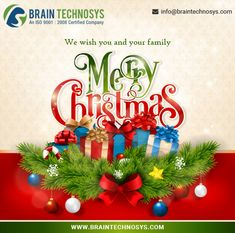I'd like to take a moment to wish all clients, colleagues, friends, acquaintances, and their loved ones a Merry Christmas and a prosperous and healthy 2018. Check out our services at www.braintechnosys.com #christmas #MerryChristmas #chsirtmasgreeting #NewYear2018 #Holidays