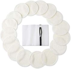 Bamboo Makeup Remover Pads Pack), 2 Layers Reusable Organic Bamboo Cotton Rounds with Laundry Bag, Washable Facial Cleansing Cloths for Eye Makeup Remove Face Wipe Eco Friendly Makeup, Expensive Makeup, Christmas Gifts For Teen Girls, Makeup Remover Pads, Oil Shop, Facial Cleansing, Coton Biologique, Clean Face, Cleaning