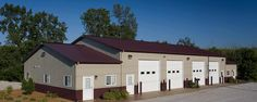 Commercial Building Profile  Use: Commercial post-frame building  Size: 42' x 80' x 14' & (2) 42' x 16' x 10'