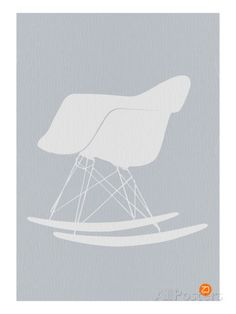 Eames Rocking Chair Impressão artística
