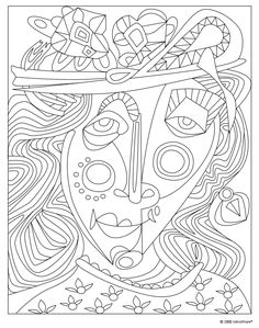 Each page in the MasterScapes Coloring Book offers patterns, textures and styles based on art masterpieces. Make them your own by choosing just how to bring them to life using color. #ColoringBooks #Free #MindWare