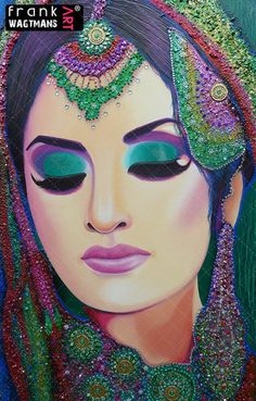 Indian bride painting Colors Of The Spirit