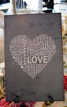 Sign Metal Heart Love