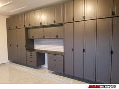 Garage Cabinets by Redline Garagegear are engineered for the garage environment. Free design and expert advice for your custom garage solution. Garage Gym, Mini Garage, Garage Closet, Garage House, Garage Walls, Dream Garage, Garage Storage Shelves, Garage Storage Systems, Bike Storage