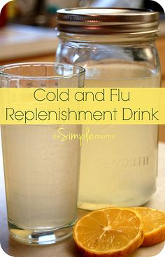 a simple real food recipe :: cold and flu replenishment drink