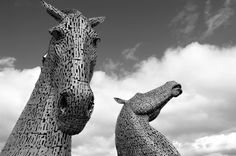 the kelpies Scotland por ElenaGM