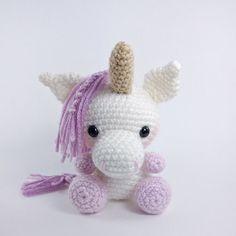 PATTERN: Crochet unicorn pattern amigurumi por TheresasCrochetShop