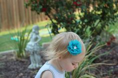A personal favorite from my Etsy shop https://www.etsy.com/listing/273104628/toddler-hair-clip-with-flower-baby-girl