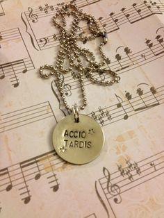 Accio Tardis - Harry Potter & Doctor Who Necklace. $10.00, via Etsy.
