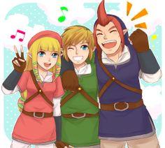 Skyward Sword: Zelda, Link, and Goose. If Demise had never happened...