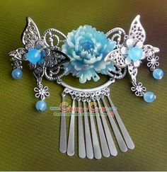 Traditional Korean Handmade Butterfly and Flower Hair Accessories