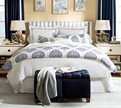 Pearl Embroidered 280-Thread-Count Duvet Cover & Sham | Pottery Barn