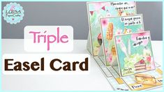 Cómo hacer una Triple Easel Card | Picnic Day de La Clau Del Scrap | Luisa PaperCrafts - YouTube Tarjetas Pop Up, Easel Cards, Card Tutorials, Deco, Cardmaking, Stampin Up, Mixed Media, Projects To Try, Paper Crafts