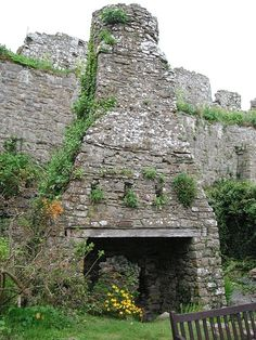 outdoor fireplace in manorbier castle in wales (photographed by jeffrey l. thomas) - oh yeah! Castles In Wales, Welsh Castles, Beautiful World, Beautiful Places, Concrete Building, Castle Ruins, Places Of Interest, Old Buildings, The Great Outdoors