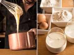 Κρέμα Πατισερί (Creme Patissiere) - madameginger.com Custard, Fondue, Glass Of Milk, Recipies, Deserts, Lemon, Pudding, Sweets, Cheese