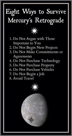 If you don't already know, Mercury is in retrograde~🤣 ~ Here are 8 Ways to Survive! Astrology Numerology, Numerology Chart, Astrology Zodiac, Sagittarius, Zodiac Signs, Capricorn Traits, Astrology Houses, Numerology Numbers, Chakras