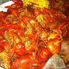 crawfish!!! extra spicy!  can't wait to go back down south!! yum!