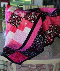 Hearts and Love Quilt by EQuiltShop on Etsy Diaper Bag, Scrap, Hearts, Quilts, Blanket, Bags, Etsy, Handbags, Blankets