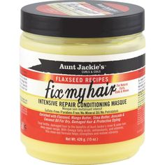 Aunt Jackie& Fix My Hair Intensive Repair Conditioning Masque - Curly Hair Care, Curly Hair Styles, Natural Hair Styles, Frizzy Hair, Leave In, Aunt Jackies Hair Products, Twisted Hair, Natural Hair Moisturizer, Natural Haircare