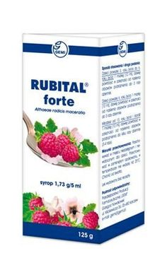 RUBITAL Forte Syrup 125ml Children 3 years  , sore throat medicine