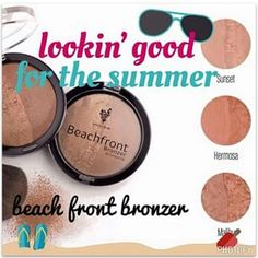 """Don't lay out in the sun and ruin your skin! Get that beautiful glow from Younique's Beachfront Bronzer! You'll get that """"beach bum"""" look everyday!!! Double click on the pic to get shopping! :)"""