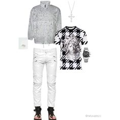 It's Black & White by nattysupplyco on Polyvore featuring Versace and Skingraft