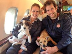 USA Hockey Player David Backes and his wife rescued two dogs from the Olympics. His group Athletes for Animals stepped up...as did many other Olympians. Go USA.