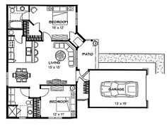 Upper floor plan 2 for 6 plex house plans narrow row for 2 bedroom 2 bath garage apartment plans