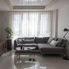 Recamiere ikea stocksund  Ein Wohnzimmer mit STOCKSUND 2er-Sofa und STOCKSUND Récamiere mit ...