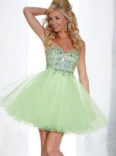A-line Sage Organza Short Homecoming Dress/Prom Dress cocktail Dress Hs 27876