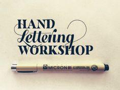 11) Hand Lettering Workshop.