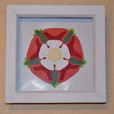 Framed Paper Tudor Rose