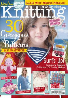 Our July issue of Knitting and Crochet is out now! Find 30 gorgeous patterns inside!