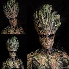 Day18 of my #31daysofhalloween #Groot #iamgroot  #guardiansofthegalaxy #tree #illusion #illusionmakeup  #sfx #sfxmakeup #scary  #halloween #halloweenmakeup #halloweenmakeupideas #amazing #beautiful  #facepainting #bodypainting #artist #bobbibicker #london