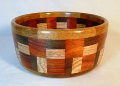 Items similar to Large segmented bowl with various domestic and exotic hardwoods. on Etsy