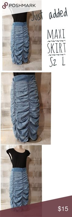 Xcvi maxi denim skirt vintage inspired as L Xcvi maxi denim skirt vintage inspired as L   Pre owned condition *******All items are in pre owned condition, Nothing, unless noted , is brand new **** please ask questionsFor sale in my posh closet  www.poshmark.com/closet/poshmarkmentors  #poshmarkseller #collections #followforfollow #fashionphotography #bloggers #ladiesoffashion #fashionfinds #shopping #buyitnow #selling #poshmark #kindofabigdeal #luxury #fashionphotographer #community…