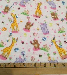 Animal Party Flannel Fabric by the yard. (PW)  Flannel fabric - Lightweight single sided and approximately 42 wide.  Perfect for: * Receiving Blankets * Backing for all Blankets * Bibs * Burp Cloths * Wash Cloths * Clothing * All types of projects!  The price for all fabric sold is in 1 yard increments. If more than 1 yard is purchased, it will come in one piece. If you have any questions, please feel free to contact me prior to purchase.  *** If a PW is added to the description, it means…