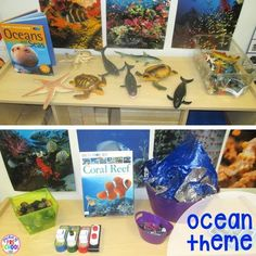 Ocean theme for the blocks center! How to set up the blocks center in your early childhood classroom (with ideas, tips, and book list) plus block center freebies Block Center Preschool, Preschool Centers, Preschool Science, Science Experiments Kids, Science For Kids, Science Centers, Summer Science, Science Chemistry, Science Fun