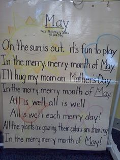 Preschool Monthly themed activities include song, sensory table ideas, and crafts fun-with-the-boys Kindergarten Poems, Preschool Poems, Preschool Class, Preschool Activities, Kindergarten Calendar, Preschool Calendar, Preschool Music, Spring Activities, Teaching Music
