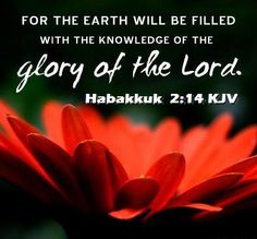 Bible Alive: Hab. 2:14 For the earth shall be filled with the knowledge of the glory of the Lord, as the waters