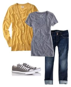 Untitled #204 by gibbiesmom on Polyvore featuring American Eagle Outfitters and Converse