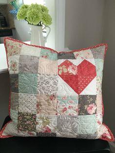Patchwork Pillow Love