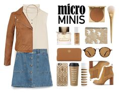 """Micro Mini"" by julia463 ❤ liked on Polyvore featuring The Row, Zara, Burberry, Tory Burch, Ray-Ban, H&M, Miss Selfridge, Stila, Trish McEvoy and Kate Spade"